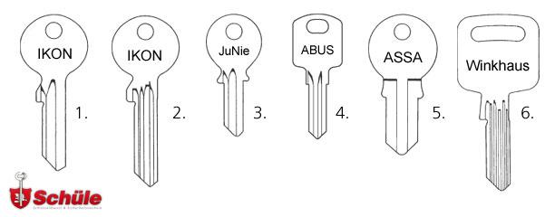 Zylinderschlüssel / Kleinzylinderschlüssel kopieren
